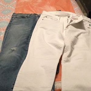 two pair Gap jeans